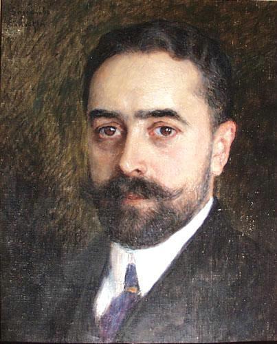 Portrait of Engineer N.Chizhov - Nikolay Bogdanov-Belsky