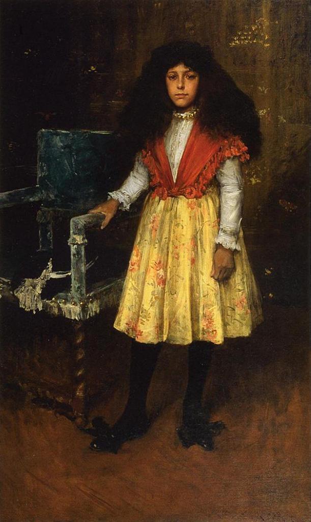 Portrait of Erla Howell (Little Miss H.) - William Merritt Chase