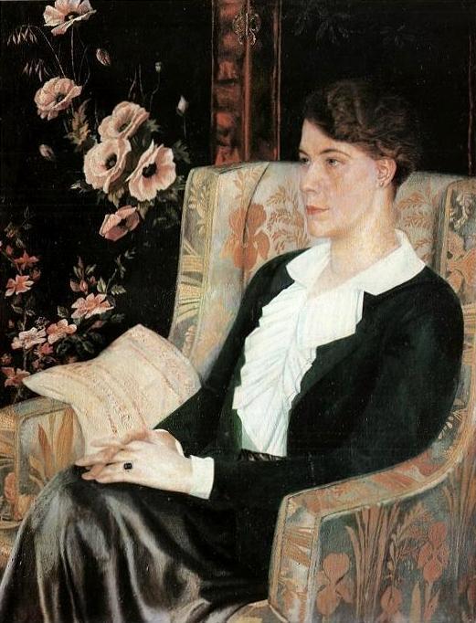 Portrait of Evdokiya Nikolaevna Glebova, the Artist's Sister - Pavel Filonov