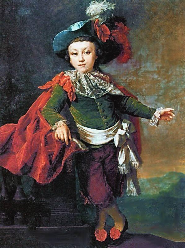 Portrait of F.P. Makerovskiy in masquerade costume - Dmitry Levitzky