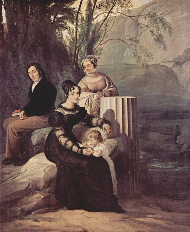 Portrait of  Familie Stampa di Soncino - Francesco Hayez