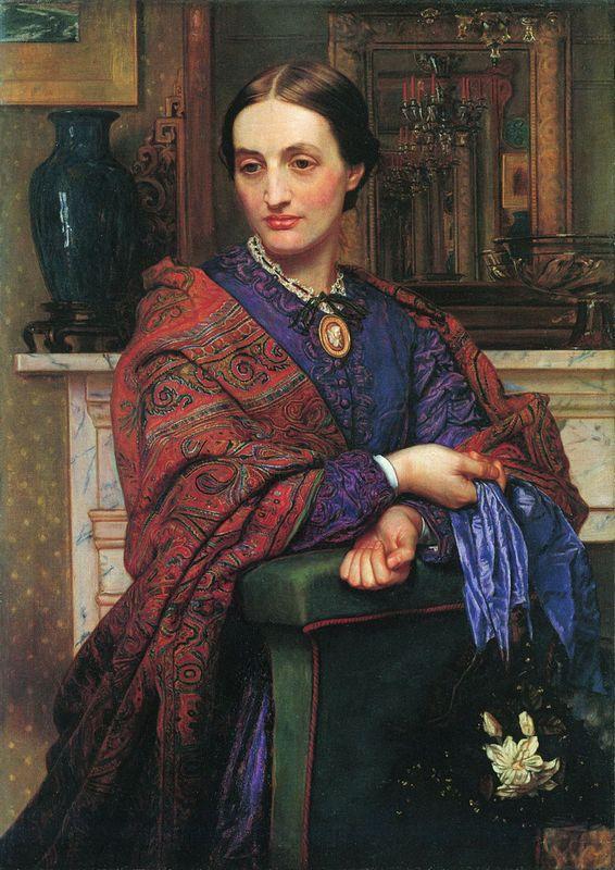 Portrait of Fanny Holman Hunt  - William Holman Hunt