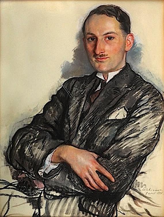 Portrait of Felicien Qaqaan - Zinaida Serebriakova