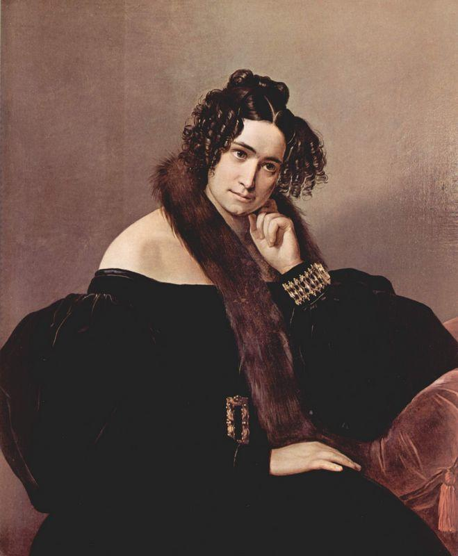 Portrait of Felicina Caglio Perego di Cremnago - Francesco Hayez