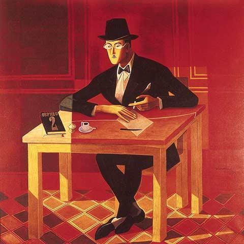 Portrait of Fernando Pessoa - Jose de Almada-Negreiros