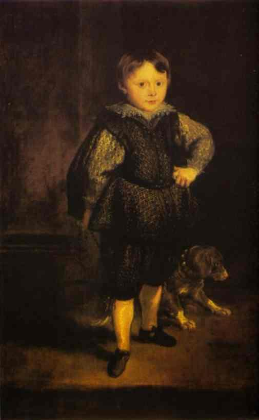 Portrait of Filippo Cattaneo, Son of Marchesa Elena Grimaldi - Anthony van Dyck