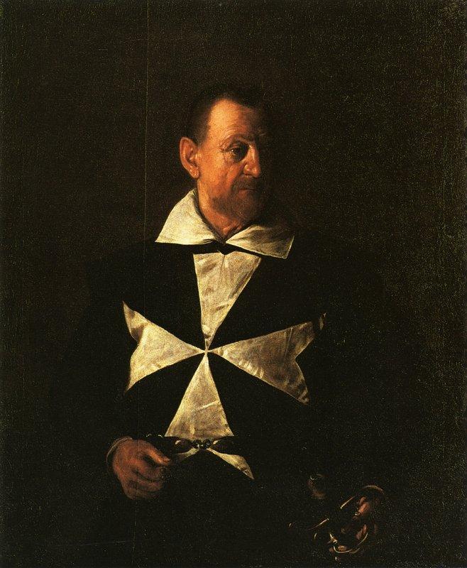 Portrait of Fra Antionio Martelli - Caravaggio
