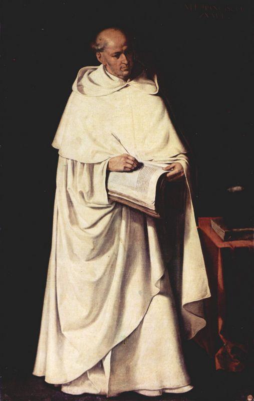 Portrait of Fra Zumel Francisco - Francisco de Zurbaran