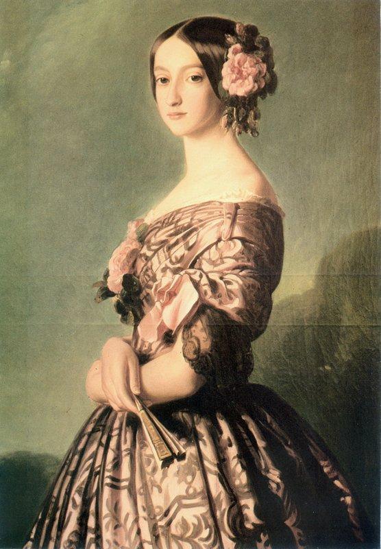 Portrait of Francisca Caroline Gonzaga de Braganca, princesse de Joinville - Franz Xaver Winterhalter