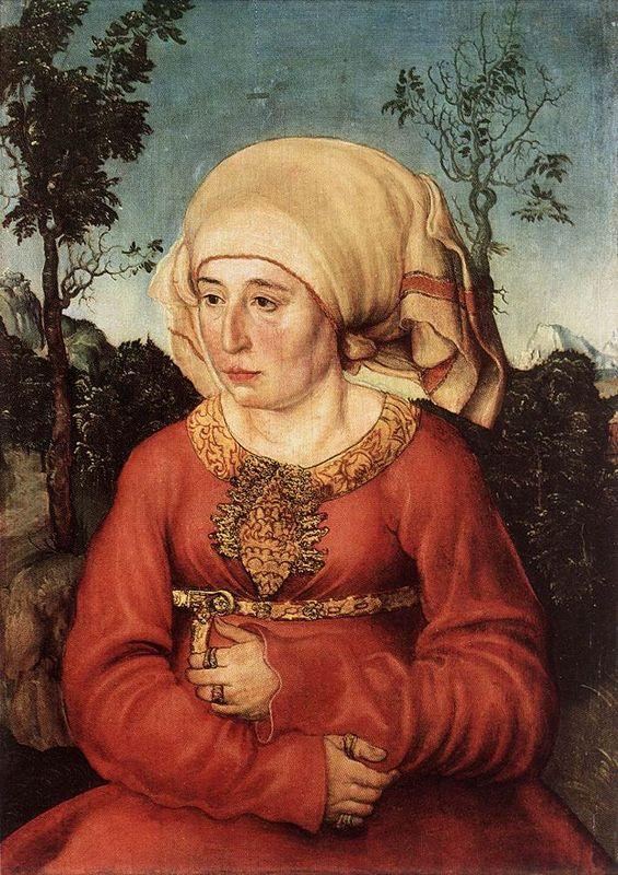 Portrait of Frau Reuss - Lucas Cranach the Elder