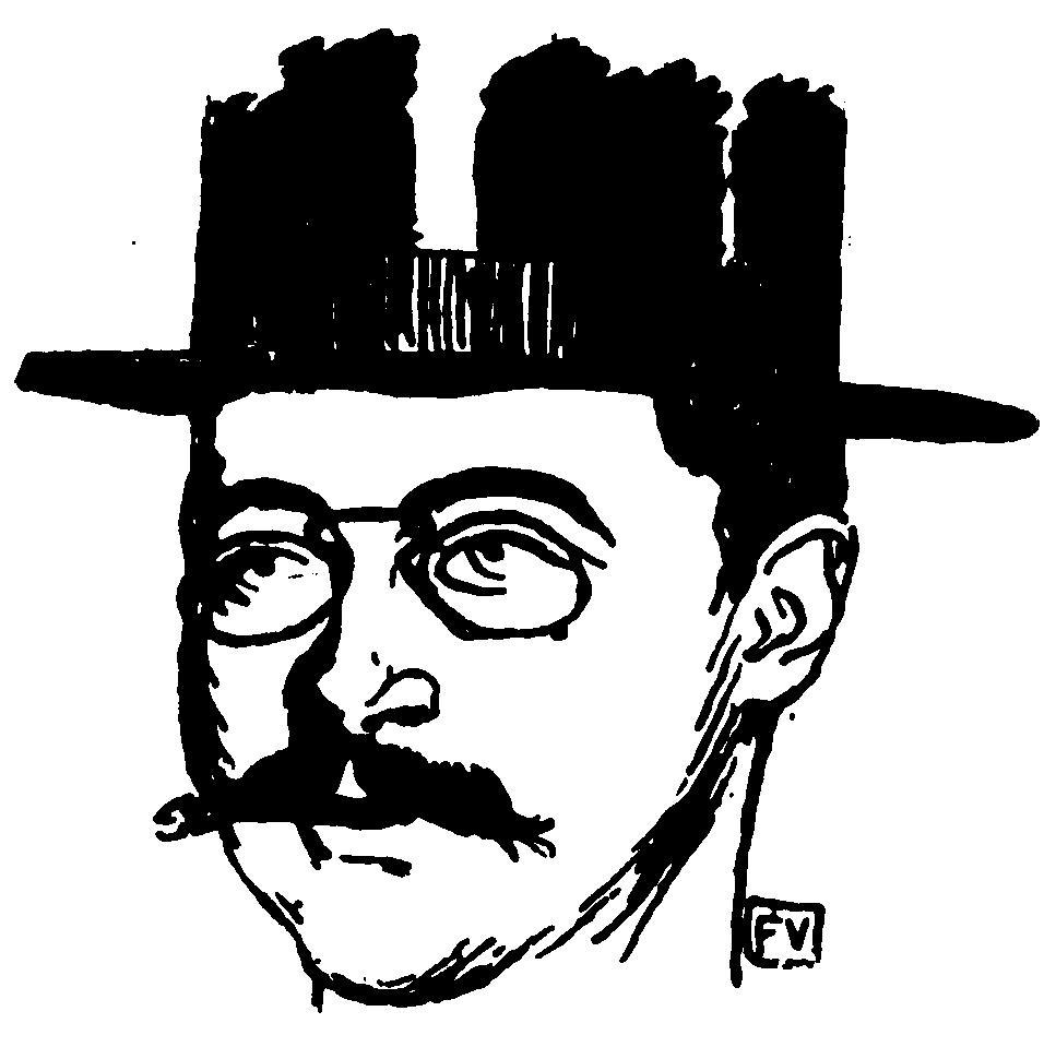 Portrait of French writer and poet Adolphe Rette  - Felix Vallotton