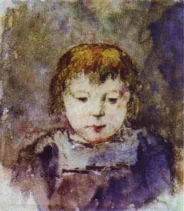 Portrait of Gaugin's daughter Aline - Paul Gauguin