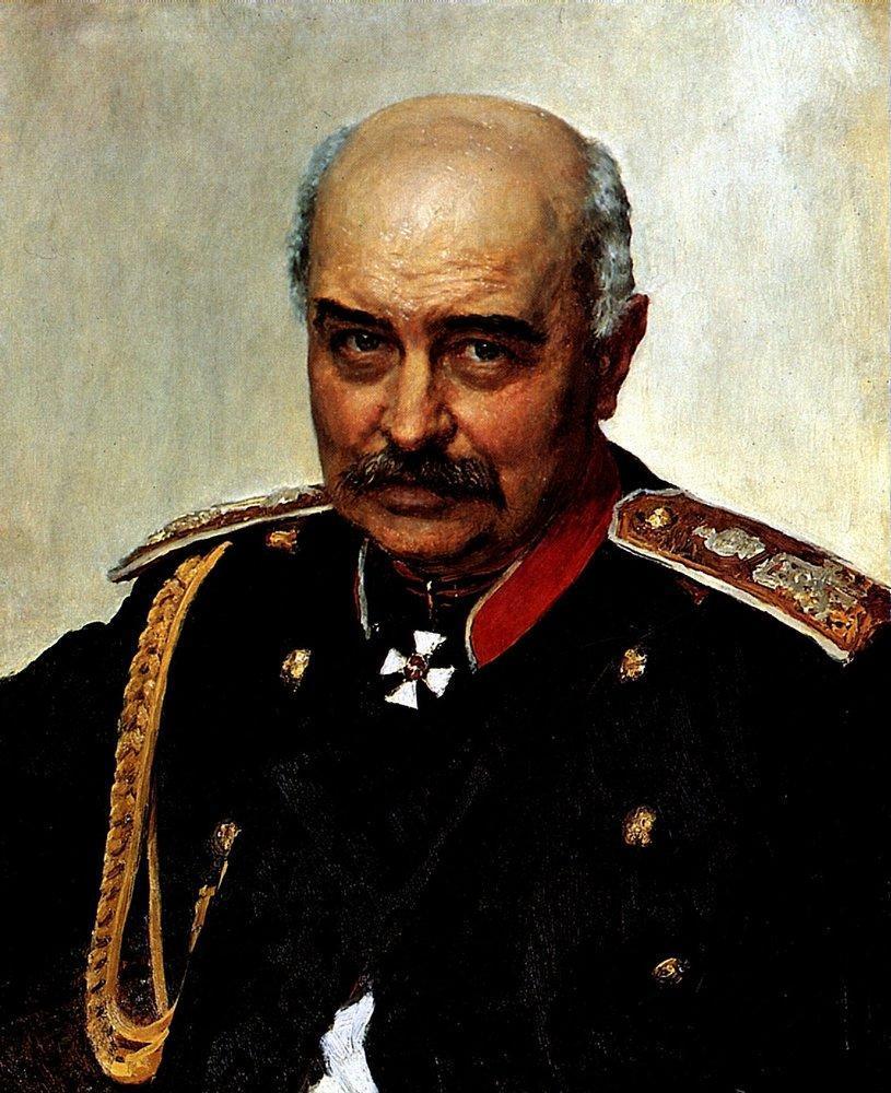 Portrait of general and statesman Mikhail Ivanovich Dragomirov - Ilya Repin