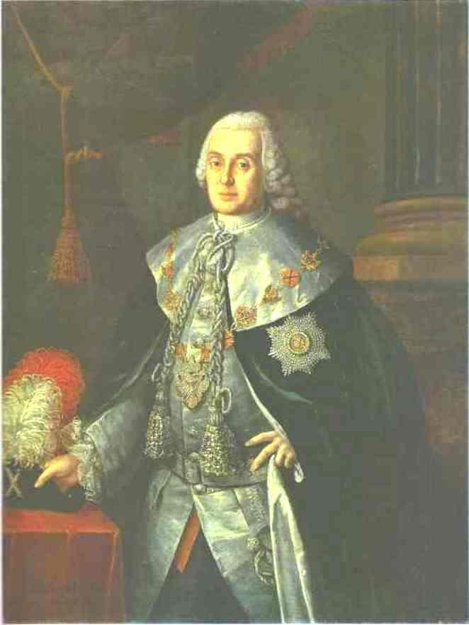 Portrait of General in Chief, Count William W.Fermor - Aleksey Antropov