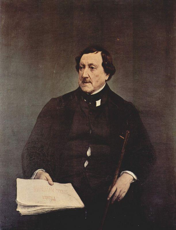 Portrait of Gioacchino Rossini - Francesco Hayez
