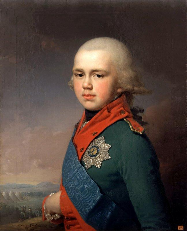 Portrait of Grand Duke Konstantin Pavlovich - Vladimir Borovikovsky