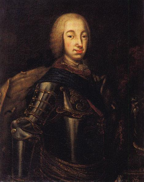 Portrait of Grand Duke Peter Fedotovich (later Peter III), - Aleksey Antropov