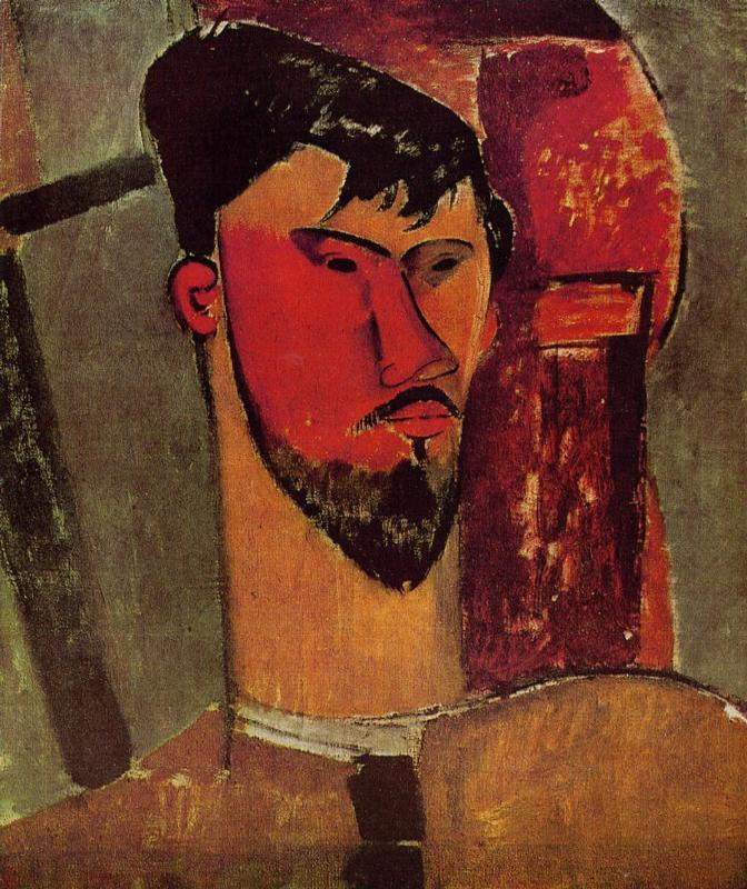 Portrait of Henri Laurens - Amedeo Modigliani