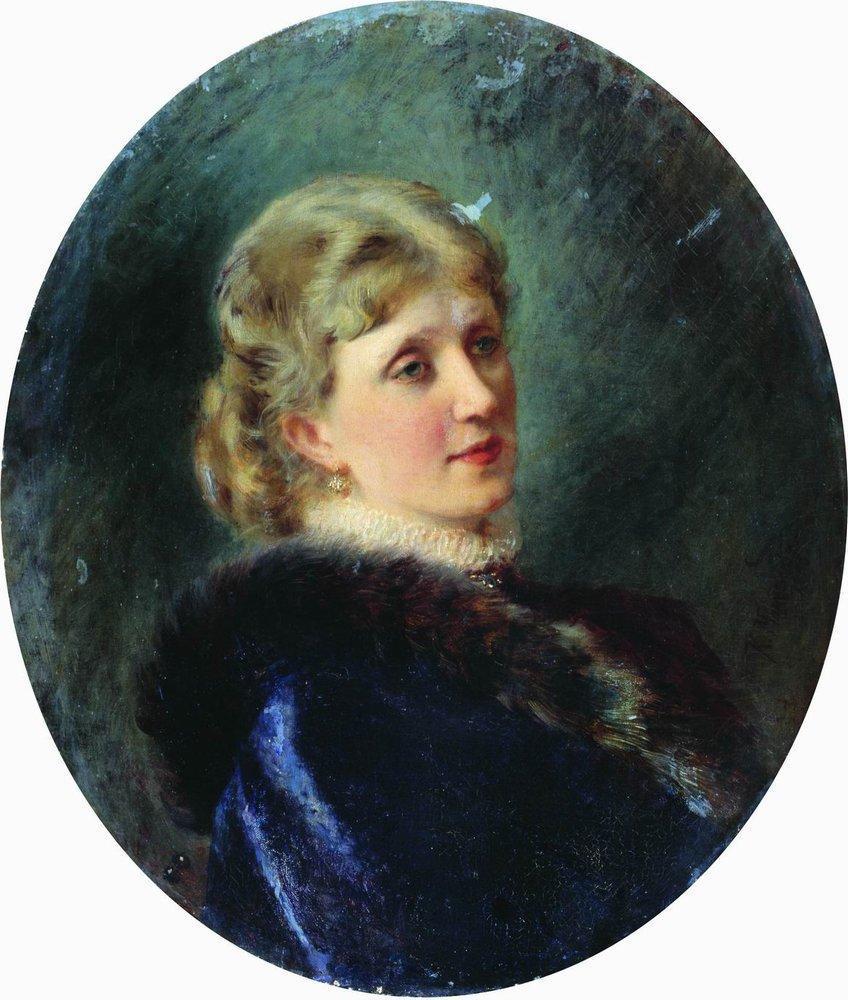 Portrait of Hudenkova - Konstantin Makovsky