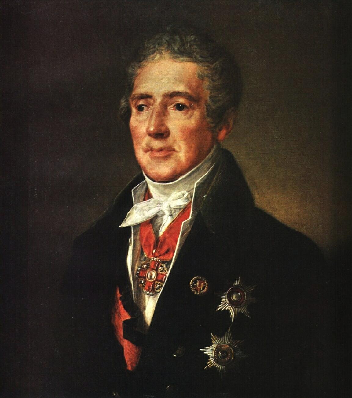 Portrait of I. I. Dmitriyev - Vasily Tropinin
