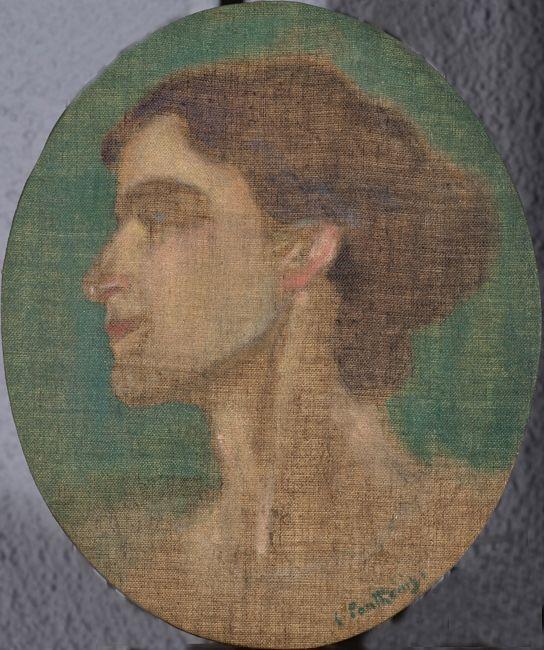 Portrait of Ioulia Partheni - Konstantinos Parthenis