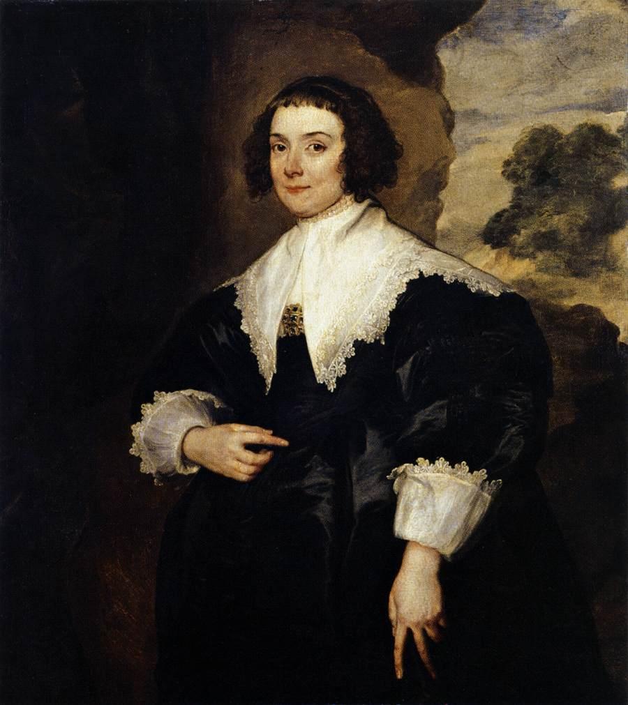 Portrait of Isabella van Assche, Wife of Justus van Meerstraten (d.1639) 1634 35 (oil on canvas) - Anthony van Dyck