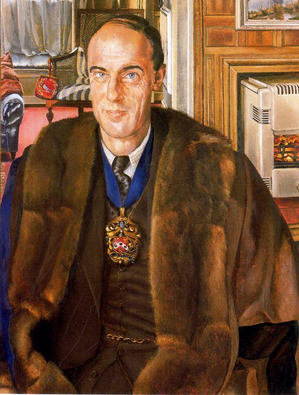 Portrait Of J. E. Martineau - Stanley Spencer