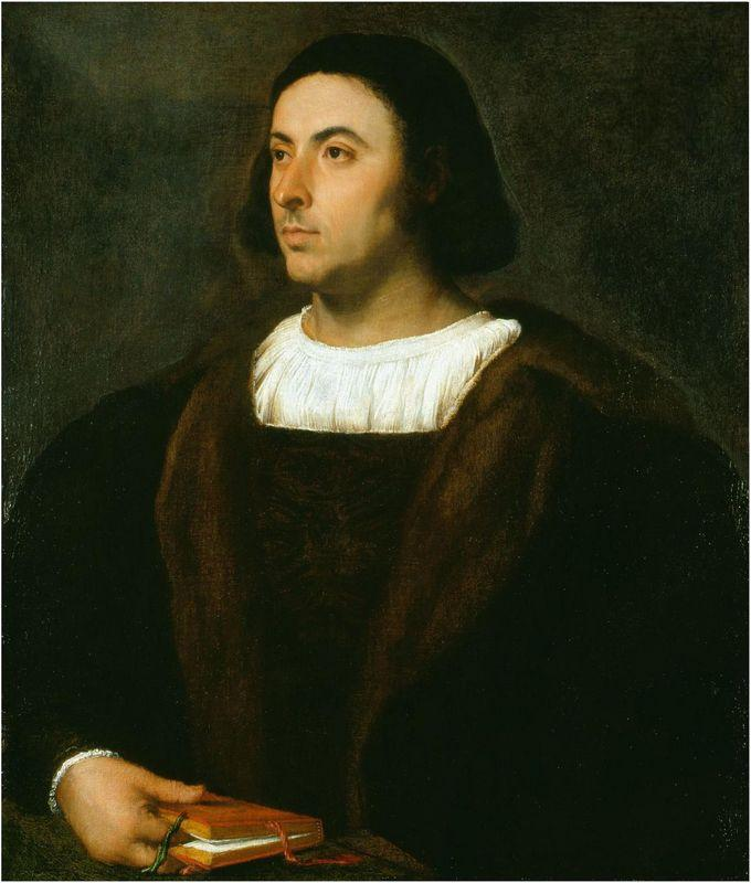 Portrait of Jacopo Sannazaro - Titian