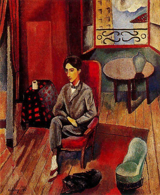 Portrait of Jean Cocteau - Moise Kisling