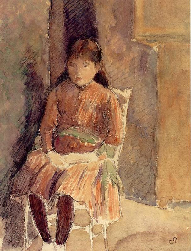 Portrait of Jeanne, the Artist's Daughter - Camille Pissarro