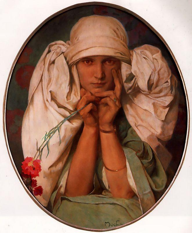 Portrait of Jiri - Alphonse Mucha
