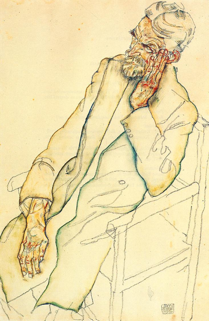 Portrait of Johann Harms - Egon Schiele