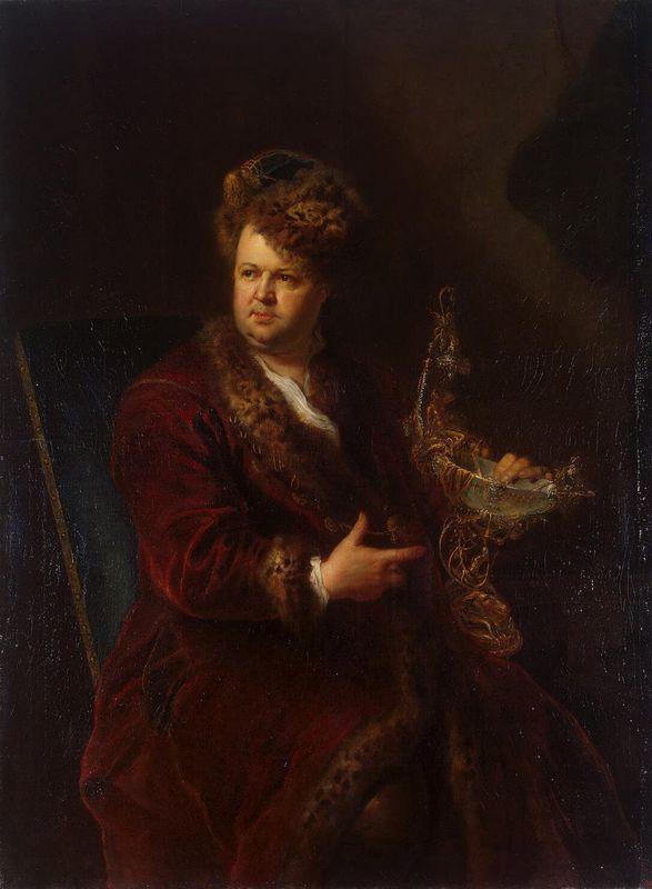 Portrait of Johann Melchior Dinglinger - Antoine Pesne