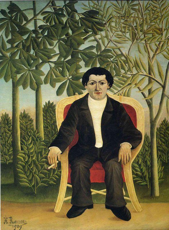 Portrait of Joseph Brummer  - Henri Rousseau