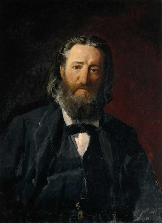 Portrait of Joseph Daumang - Nikolai Ge
