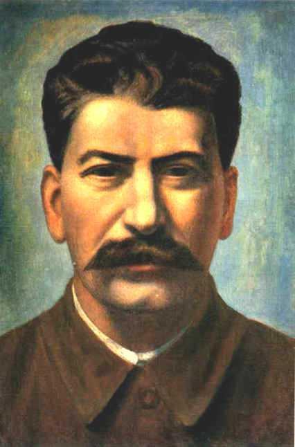 Portrait of Joseph Stalin (Iosif Vissarionovich Dzhugashvili) - Pavel Filonov