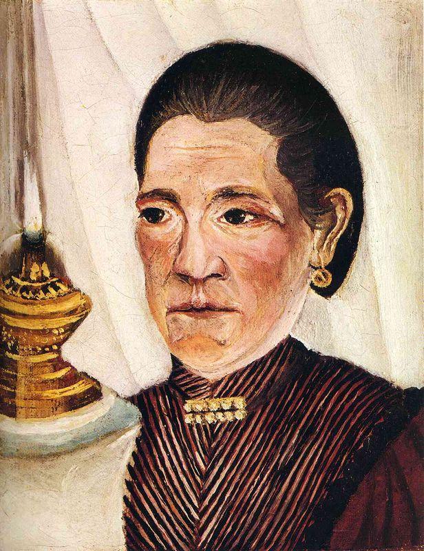 Portrait of Josephine the artist's second wife - Henri Rousseau