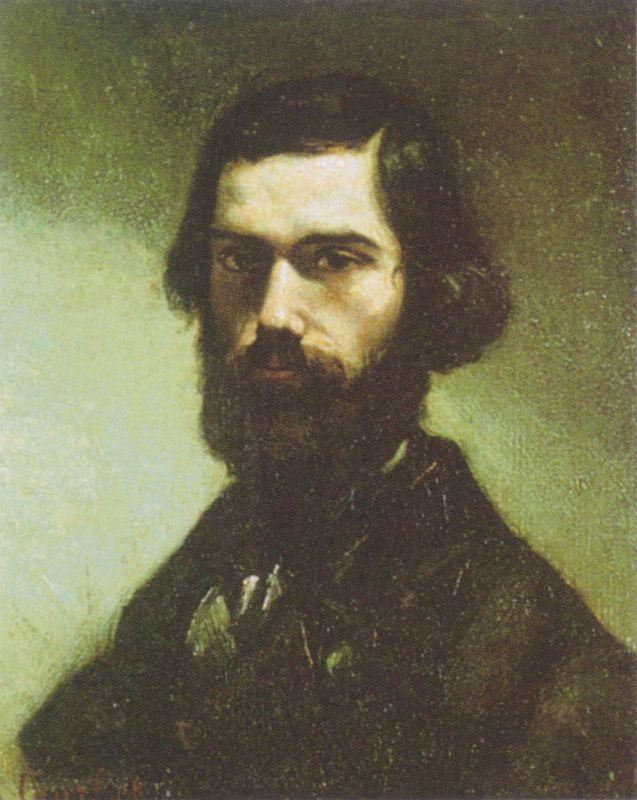 Portrait of Jules Valles  - Gustave Courbet