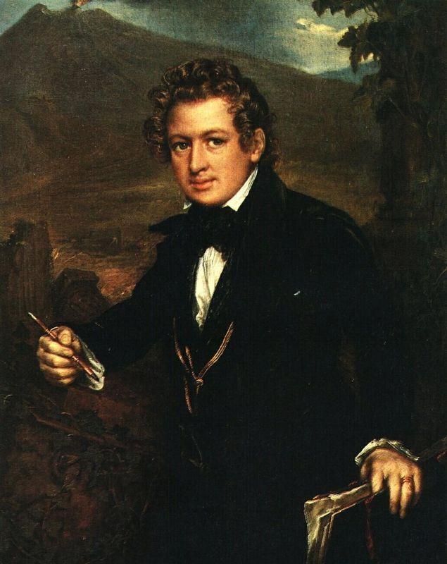 Portrait of Karl Brulloff - Vasily Tropinin