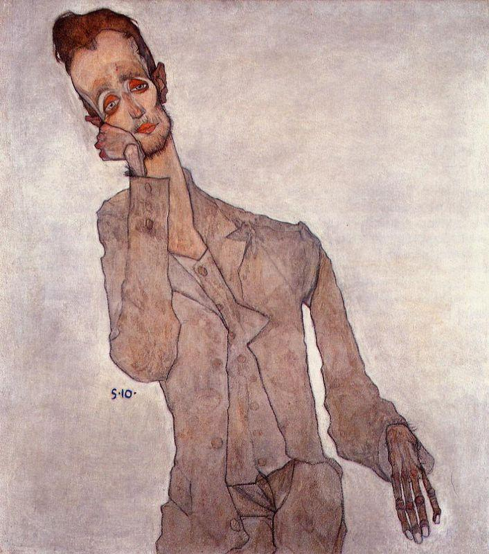 Portrait of Karl Zakovsek - Egon Schiele