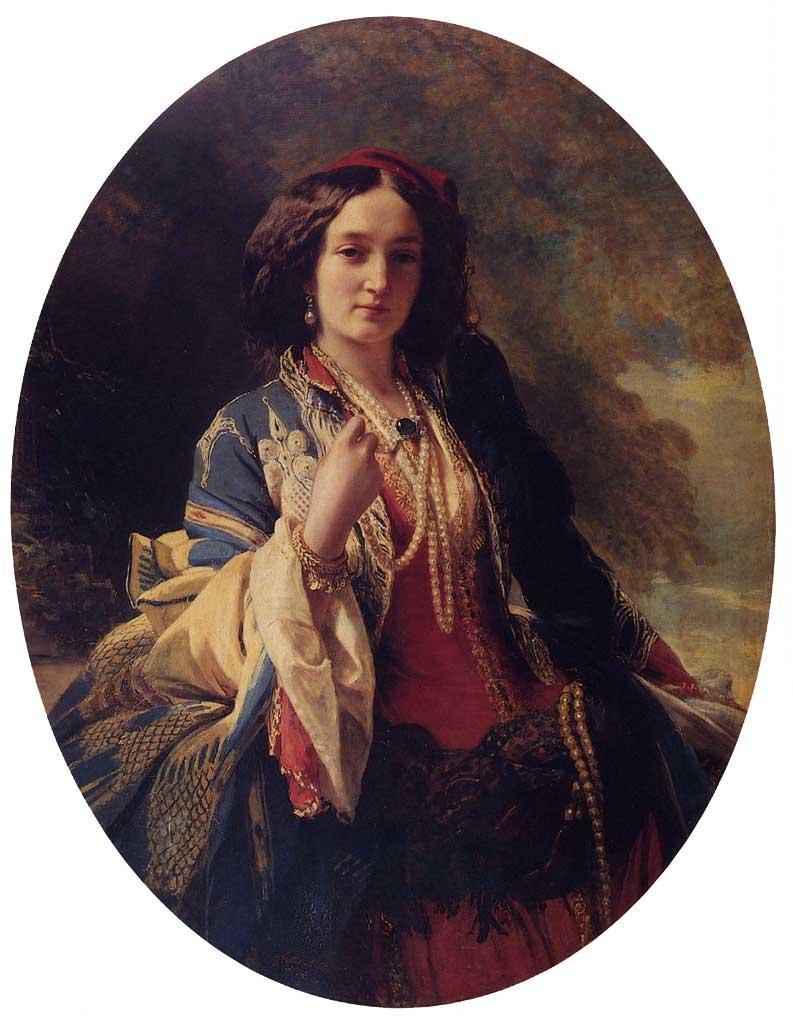 Portrait of Katarzyna Potocka - Franz Xaver Winterhalter