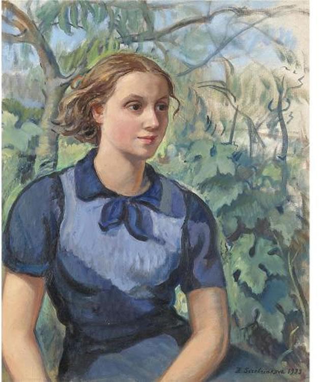 Portrait of Katya - Zinaida Serebriakova