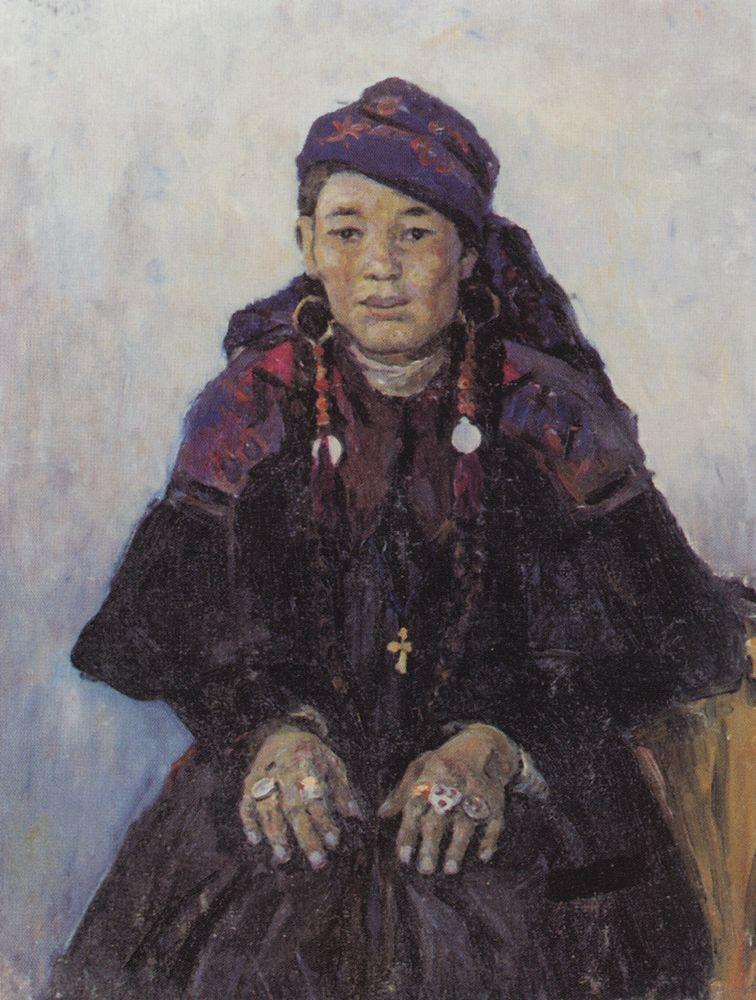 Portrait of khakasy - Vasily Surikov