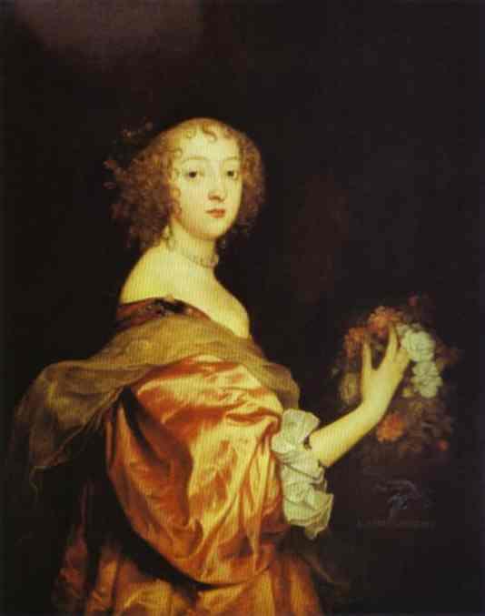 Portrait of Lady d Aubigny - Anthony van Dyck