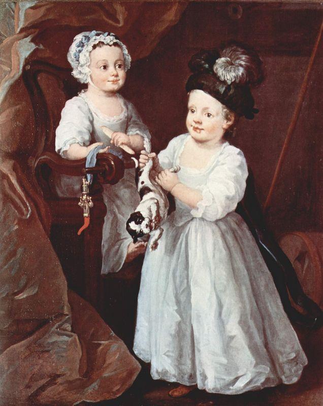 Portrait of Lady Mary Grey and Lord George Grey - William Hogarth