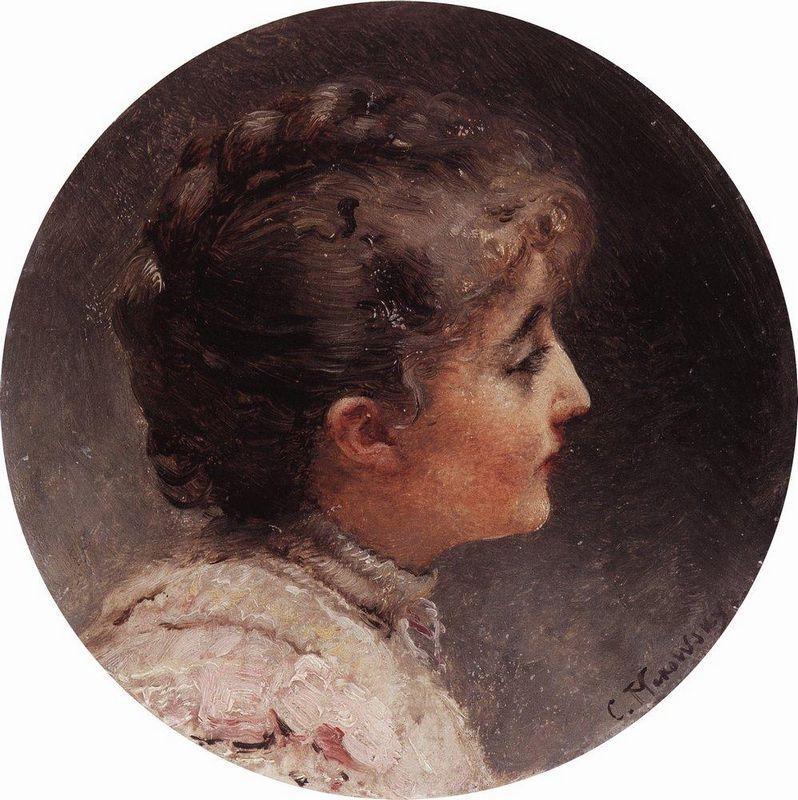 Portrait of Lady Vivien - Konstantin Makovsky