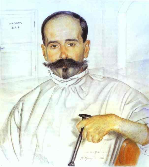 Portrait of Lazar Ivanovich Bublichenko - Boris Kustodiev