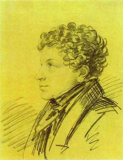 Portrait of Leo Pushkin - Alexander Orlowski