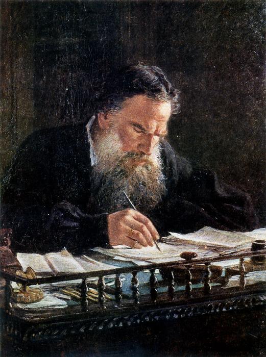 Portrait of Leo Tolstoy - Nikolai Ge