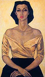 Portrait of Leonor Estrada - Oswaldo Guayasamin